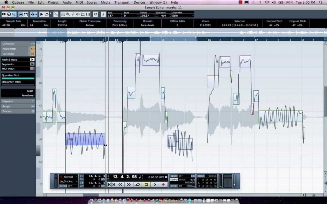 TechMuze Ep 59 – Vocal Tuning, Comping and Audio-to-MIDI In Cubase